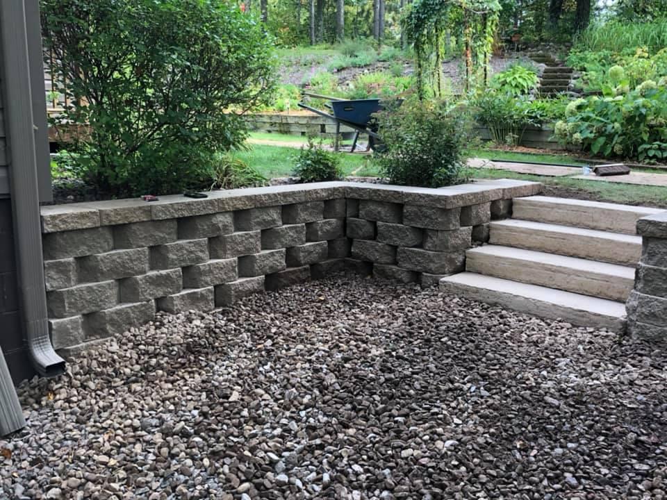Retaining Wall & Steps