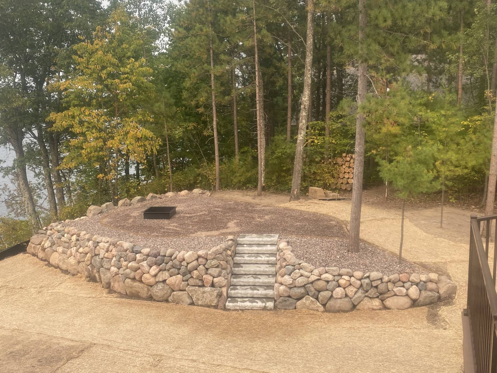 Hayward WI Landscaping Rock Wall